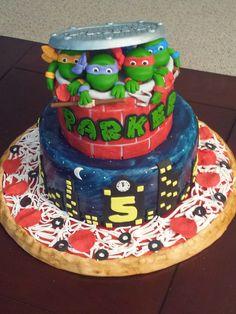 teenage mutant ninja turtle birthday cake   Cakes: Teenage Mutant Ninja Turtles Birthday Cake