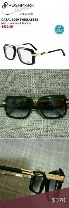 Authentic Cazal sunglasses gold & black Beautiful Authentic Cazal sunglasses. Black & Gold...Sunglasses are for men! But I used them once and they look great on. Sunglasses are in PERFECT CONDITION! No scratches on them at all! Like new!!! Accessories Sunglasses