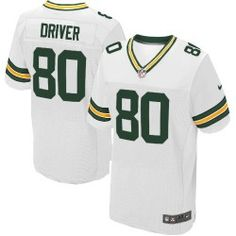 Mens Nike Green Bay Packers http://#80 Donald Driver Elite White Jersey $129.99