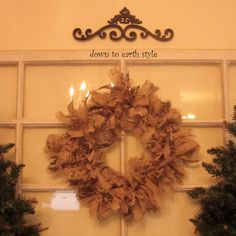 How to make a Raggy Burlap Wreath