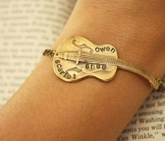 Personalized Guitar Bracelet (Gold).. now if only I could play