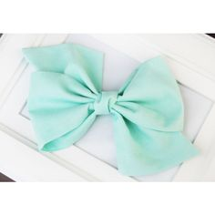 Oversize Headband Mint Green Hair Bow Baby and Girls Fabric Hair Bow... ($15) ❤ liked on Polyvore featuring accessories, hair accessories, light blue, headband hair accessories, hair bow headband, cotton headbands, head wrap headband and hair bands accessories