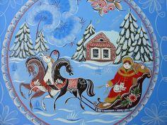 Мастерская городецкой росписи Купавушка Folk Art Flowers, Flower Art, Snow Maiden, Christmas Crafts, Christmas Decorations, Russian Folk Art, Art Populaire, Winter Project, Tole Painting