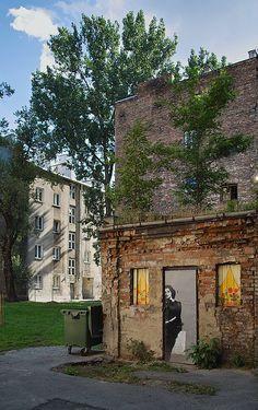 my beloved Praga - Warszawa - across the Vistula, art district, formerly rough and crime-ridden