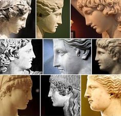 Greek profile. The nose and the forehead run almost in the same direction, without the typical depression between nose and forehead. It can be observed in the classical greek sculpture but it's very rare in real people