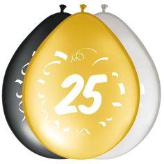 Ballonger - 30cm - 25 år #Bursdagsballonger