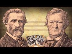Animated-humoristic tribute to the Opera composers Giuseppe Verdi and Richard Wagner, on their anniversary Homenaje humorístico-animado a l. Opera Singers, Two Men, Teaching Music, Just For Fun, Orchestra, Animated Gif, Music Videos, Two By Two, Hilarious