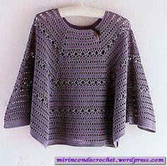 Poncho en gajos… | Mi Rincon de Crochet