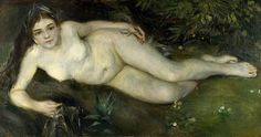Pierre-Auguste Renoir - A Nymph by a Stream [c.1869-70]