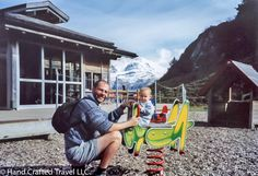 Me and my youngest son (who's now 15), on top of a mountain in Switzerland in late September 2001. Almost every town and village in Switzerland has a playground. Every evening our kids would join the local children for an hour or so before every one headed home to dinner. #TBT
