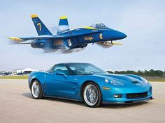 MT Editor at Large Arthur St. Antoine pits Chevys awesome Blue Devil -- the Corvette ZR1 -- against its toughest adversary yet: a Blue Angels F/A-18 Hornet fighter jet.  Shot By: Jim Gleason & Terren Lin  Edited By: Jim Gleason  Read the story here: http://www.motortrend.com/features/performance/112_0908_chevy_corvette_zr1_vs_fighter_jet_race...