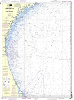 NOAA Nautical Chart 11480: Charleston Light to Cape Canaveral