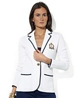 Lauren Ralph Lauren Jacket, Trimmed Embroidered Blazer