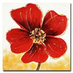 Peinture 40 X 40 Thème Fleur - Peinture sur toile Thème Fleur ...