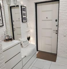 Home Decor – Decor Ideas – decor Small Bedroom Interior, Bathroom Interior Design, Apartment Interior, Apartment Design, Bedroom Decor, Garderobe Modern Design, Home Room Design, House Design, Home Entrance Decor