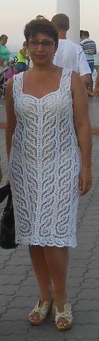 white magic crochet dress very Crochet Motif, Knit Crochet, Crochet Patterns, Tunisian Crochet, Crochet Woman, Crochet Clothes, Crochet Dresses, Crochet Fashion, Learn To Crochet