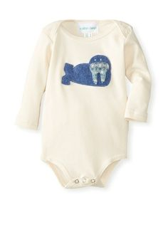 Cate & Levi Baby Organic Long Sleeve Walrus Romper at MYHABIT