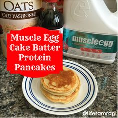Muscle Egg Cake Batter Protein Pancakes Recipe