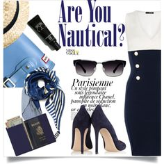 Are you Nautical? by clotheshawg on Polyvore featuring polyvore fashion style Quiz Gianvito Rossi Royce Leather Magdalena