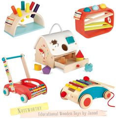 Wooden Toys for Baby & Toddler - by French toy maker Janod.