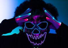 De 25 beste afbeeldingen van Glow in the dark UV Maskers