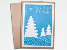 Handmade Christmas Card - Silent Night by TheImaginationSpot