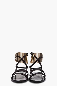Lanvin metal cuffs sandal