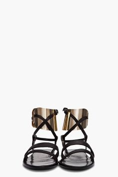 LANVIN Metal Cuff Sandals