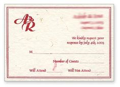 This #RSVP cards shown as a postcard. RSVP detail can be described at the front of card while overleaf is used for printing of #address. see the front of RSVP Invitation.