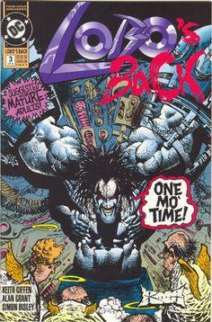"Simon Bisley: #Lobo's Back (#DCComics #ClassicComics) ""ONE MO' TIME!"""