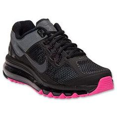 Women's Nike Air Max  2013 LE Running Shoes| FinishLine.com | Reflective Black/Pink Foil