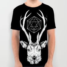 Stag All Over Print Shirt by Andy Christofi | Society6