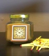 Sandalwood Patchouli Candle in a Jar/ Face of Time/ by ShayCandles, $12.00