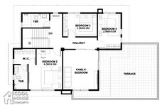 Home design plan with 4 bedrooms.House description:One Car Parking and gardenGround Level: Living room, 1 Bedroom with bathroom, Two Story House Design, 2 Storey House Design, Duplex House Design, Modern House Design, Two Storey House Plans, Dream House Plans, House Floor Plans, Home Building Design, Home Design Plans