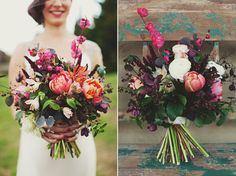 amazing!  love the bundled wild flower feeling, not my color palette though