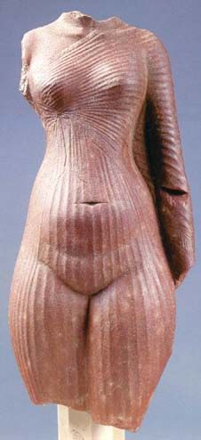 Torso of princess Amarna found at the site of Tell el-Amarna, Egypt. Amarna Period 1352-1336 B.C.