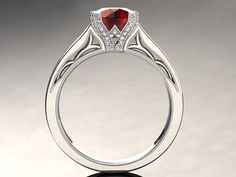 Ruby Engagement Ring Ruby Ring 14k or 18k by WinterFineJewelry