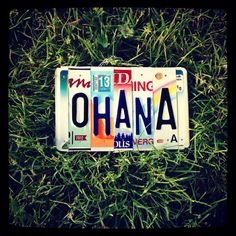 Hey, I found this really awesome Etsy listing at https://www.etsy.com/listing/191514037/ohana-license-plate-sign-family-decor