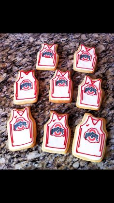 Ohio State Jersey Sugar Cookies
