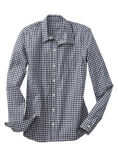 Scored this navy gingham button up from Gap for $12 thanks to the Columbus Day Sale!