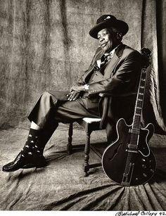 "John Lee Hooker—Legendary blues musician♥ ""Boom, boom, boom, boom - Gonna shoot you right down..!"