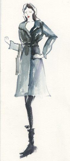 10 min croquis #watercolor