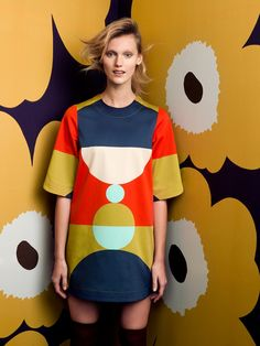 Marimekko Autumn 2014 Original y alegre African Textiles, Fashion Prints, Fashion Design, Diy Clothes, Dress To Impress, Editorial Fashion, Pop Art, Look, Girl Fashion