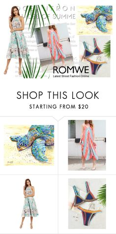 """romwe 4/V"" by obsessedwithnicestuff ❤ liked on Polyvore featuring romwe, romwefashion and fashioncombination"