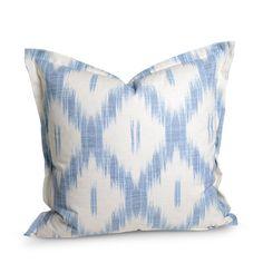 Blue Ikat Euro Pillow | Furbish Studio