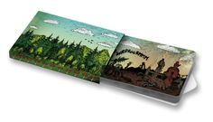 Petr Korunka - Les #ilustration #forest #industry #nature  #ChewingGums #Žvýkačky