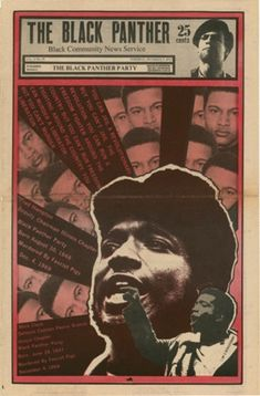 The Black Panther newspaper, art and design: Emory Douglas.