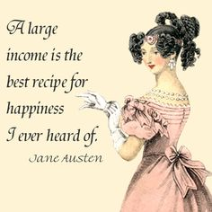 Jane Austen captures a popular sentiment! Her wonderful audiobooks are available through Silksoundbooks including Persuasion and Northanger Abbey