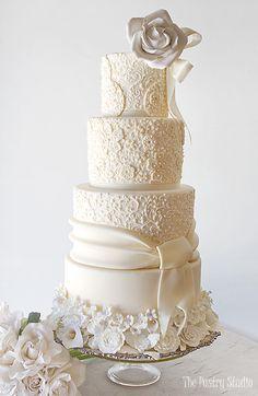 Featured Cake: The Pastry Studio; Wedding cake idea.
