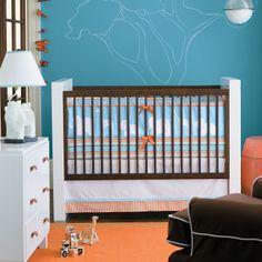 Orange / Blue baby nursery